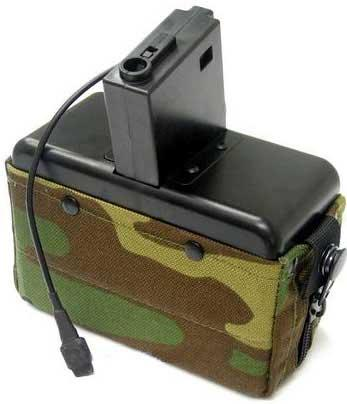 MAG 2800 Round Auto Winding Box Magazine For M4 / M16 Series Airsoft AEG