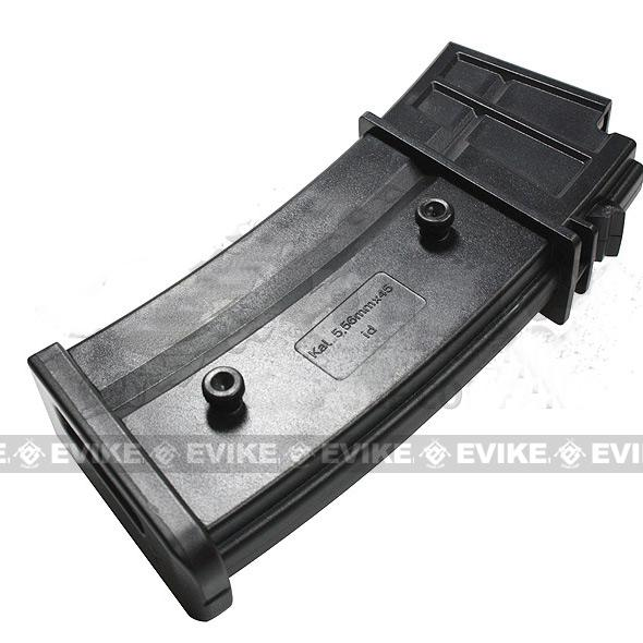 Evike.com 120 Round Mid-cap Magazine For G36 SL9 XM8 Series Airsoft AEG (One)