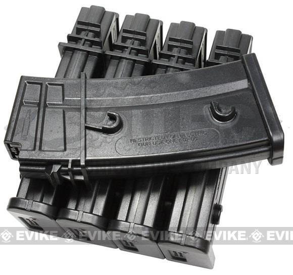 Evike.com 140 Round Mid-cap Magazine For G36 SL9 XM8 Series Airsoft AEG (Box Set of 5)