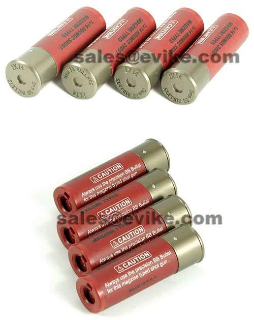 Shells for Tokyo Marui, UTG, DE, TSD, Matrix & Compatible Airsoft Shotgun series (x4)