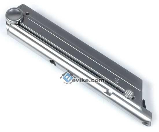 WE Spare Magazine for P08 / Luger Series Airsoft Gas Blowback (Stainless Chrome Finish)