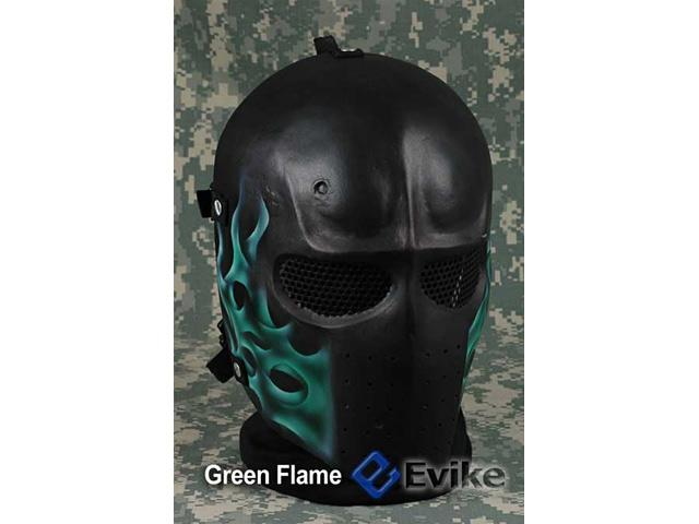 Evike.com R-Custom Fiberglass Wire Mesh Army Mask - Green Flame