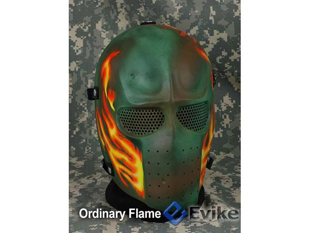 Evike.com R-Custom Fiberglass Wire Mesh Army Mask - Ordinary Flame