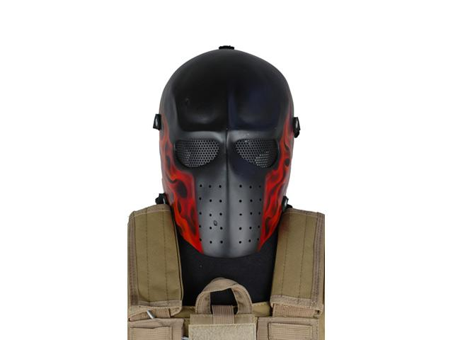 Evike.com R-Custom Fiberglass Wire Mesh Army Mask - Red Flame