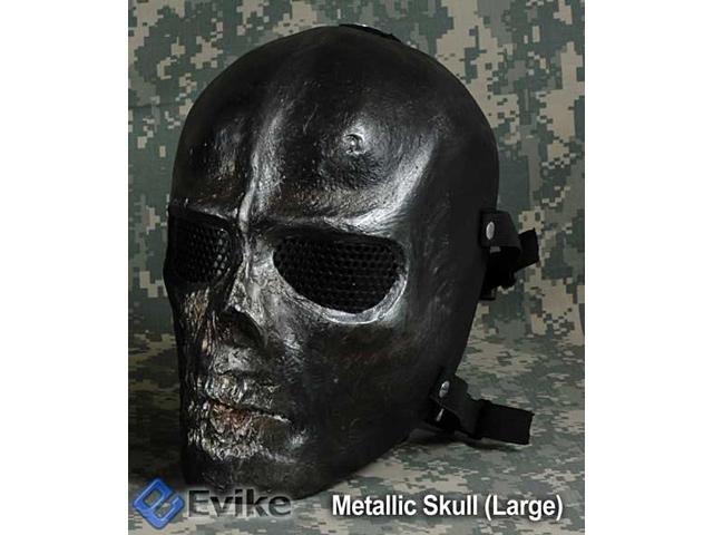 Evike.com R-Custom Fiberglass Wire Mesh Large Metallic Skull Mask