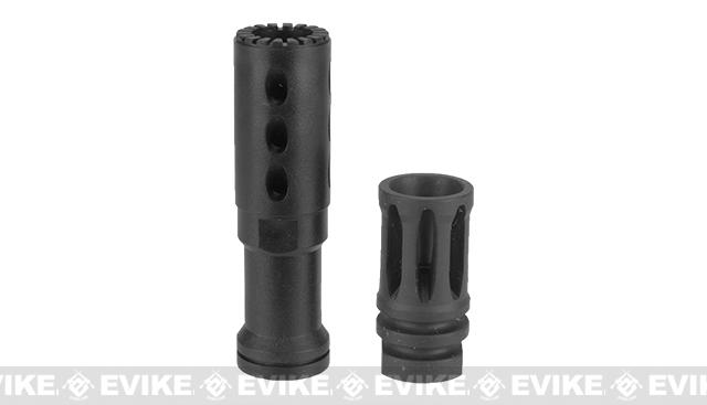 z ICS MS-1 Flash Hider for Airsoft AEGs - 14mm Negative