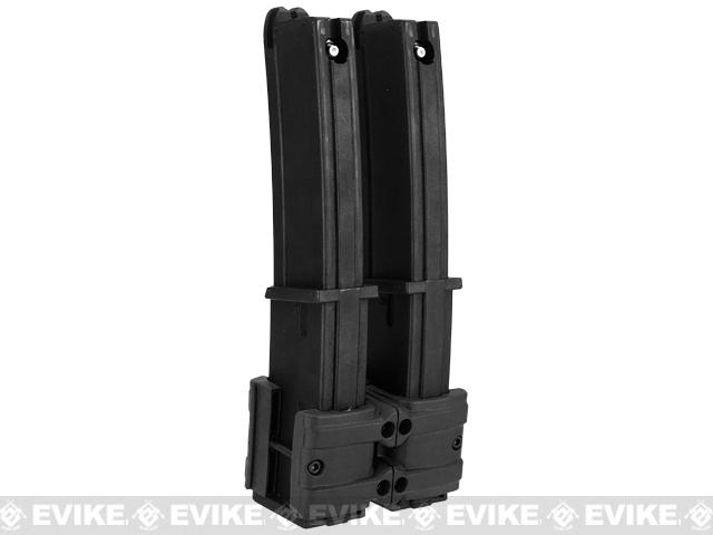 Polymer Dual Magazine Fast Clip for MP7 Series Airsoft AEG GBB - Black
