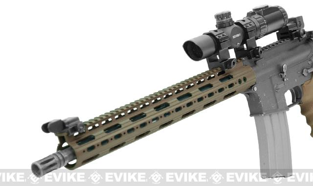 UTG PRO AR15 / M4 / M16 15 SuperSlim Free Float Modular Handguard - Flat Dark Earth Cerakote