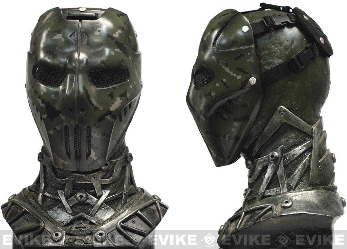 Evike.com R-Custom Fiberglass Wire Mesh Digital Woodland Camo Mask Inspired by Brink