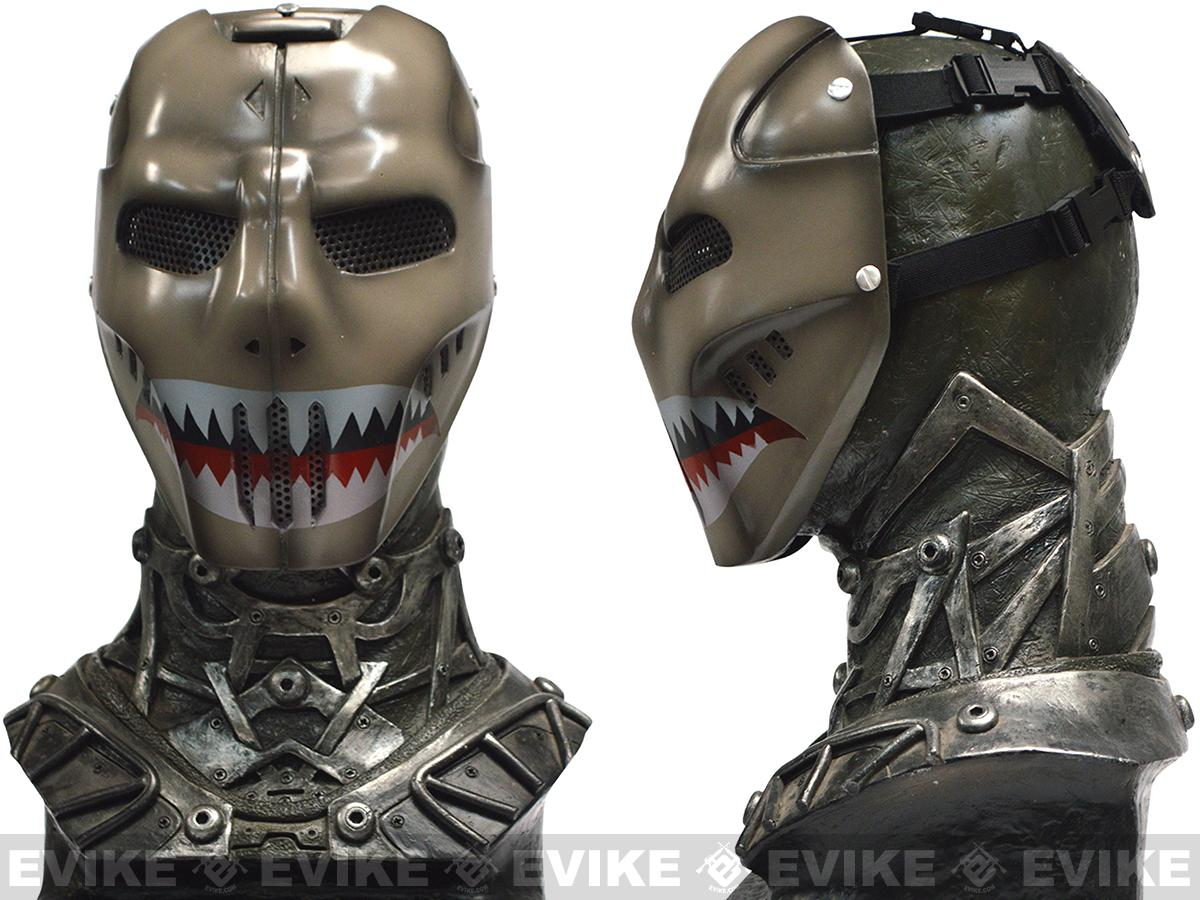Evike.com R-Custom Fiberglass Wire Mesh Sharkface Mask Inspired by Brink