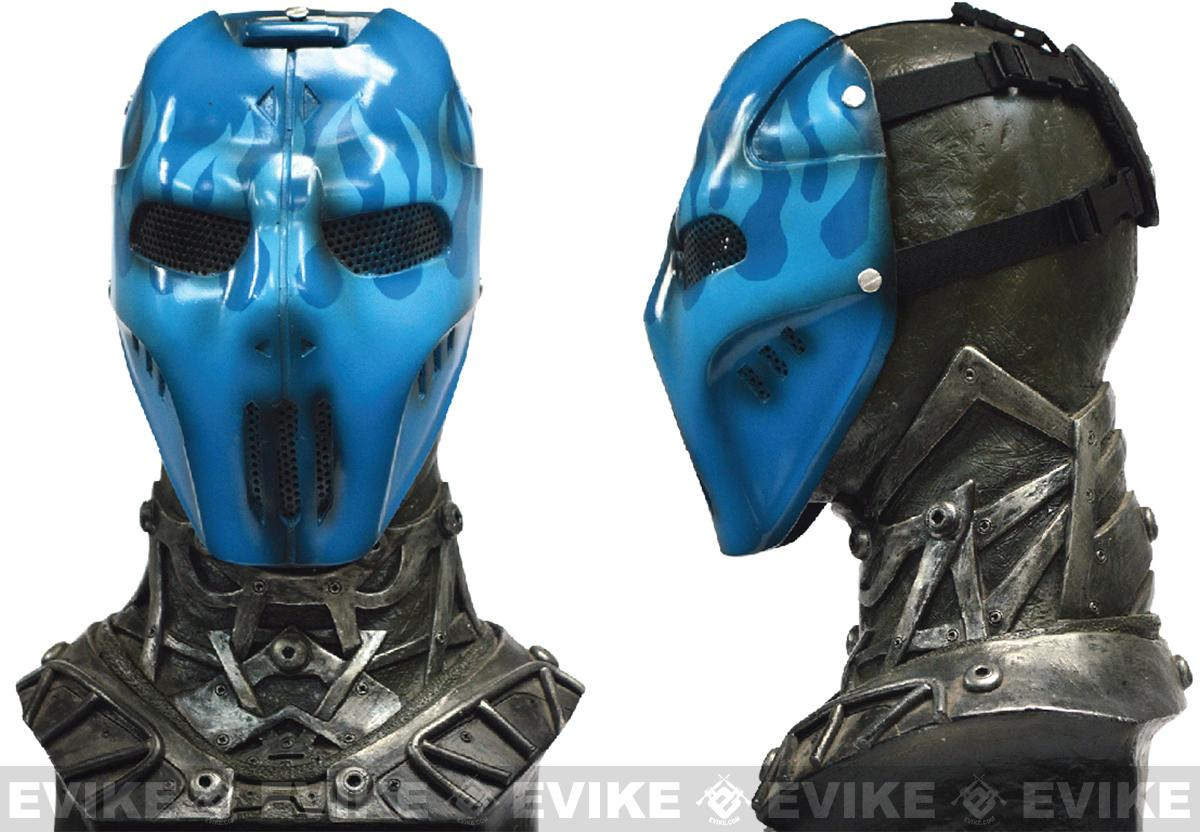 Evike.com R-Custom Fiberglass Wire Mesh Blue Flame Mask Inspired by Brink
