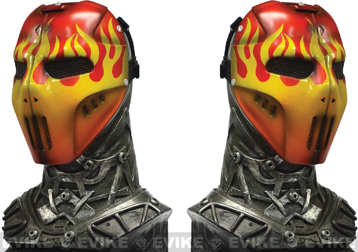Evike.com R-Custom Fiberglass Wire Mesh Red Flame Mask Inspired by Brink