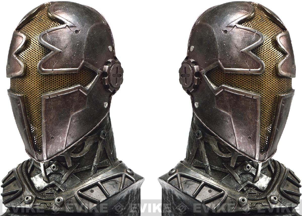 Evike.com R-Custom Fiberglass Wire Mesh Gold Paladin Mask Inspired by Hellgate