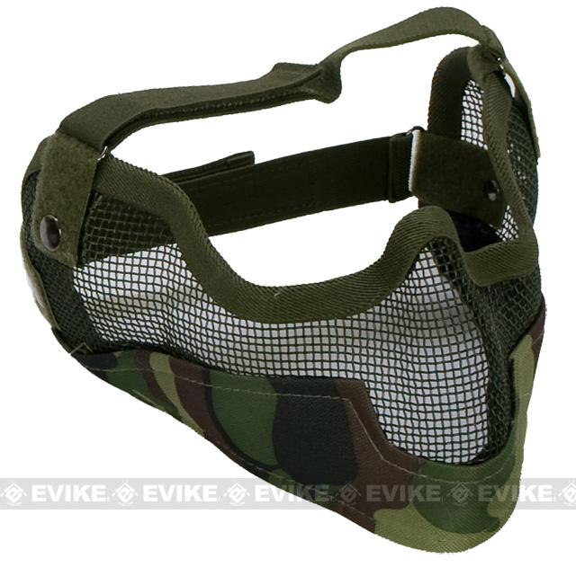 Matrix Iron Face Carbon Steel Striker Gen2 Metal Mesh Lower Half Mask - Woodland Camo