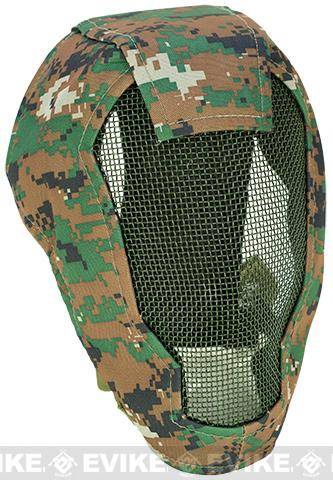 Matrix Iron Face Carbon Steel Striker Gen4 Metal Mesh Full Face Mask - Digital Woodland