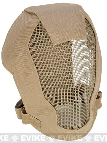 Matrix Iron Face Carbon Steel Striker Gen4 Metal Mesh Full Face Mask - Desert Tan