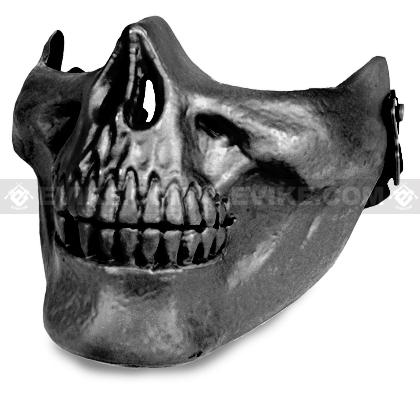 Avengers Skull Iron Face Lower Half Mask (Silver Grey)