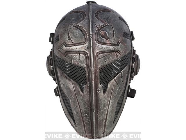 Evike.com R-Custom Fiberglass Wire Mesh Templar Mask - Black
