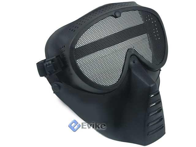 SanSei Type Tactical Low Profile Airsoft Mesh Mask - BLACK