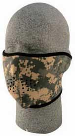 z Bobster / Zan Tactical Neoprene 1/2 Face Mask - Digital ACU Camo / Army Camo