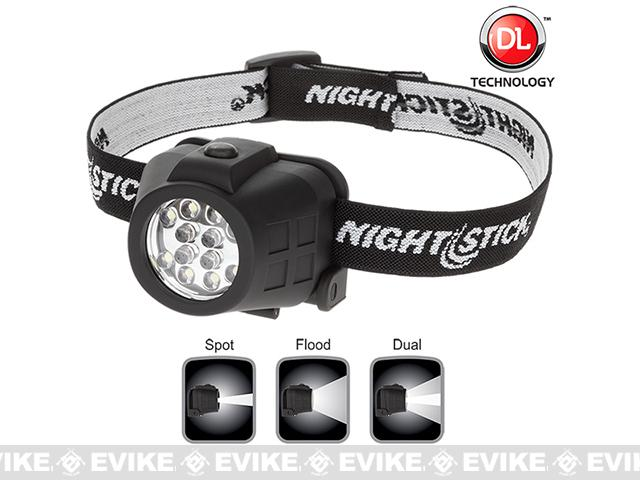 Night Stick 4602B Dual-Light LED Headlamp - Black