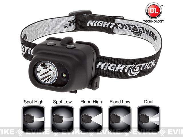 Night Stick 4608B Dual-Light LED Headlamp - Black