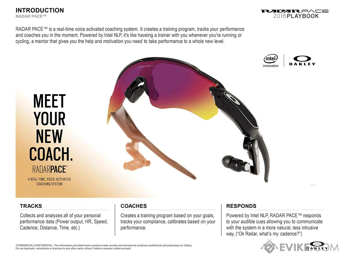 Oakley SI Radar Pace Intelligent Coaching Sunglasses