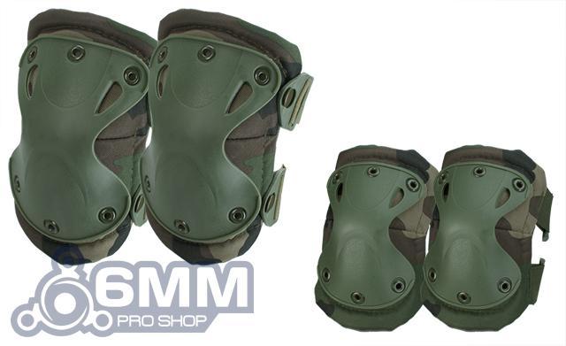 6mmProShop Tactical Knee & Elbow Pad Set - Woodland
