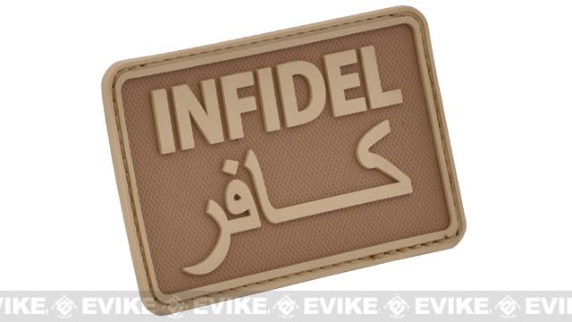 Hazard 4 Infidel Rubber Hook and Loop Patch - Coyote