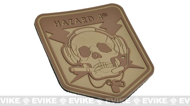 Hazard 4 Spec Op Skull Rubber Hook and Loop Patch - Coyote