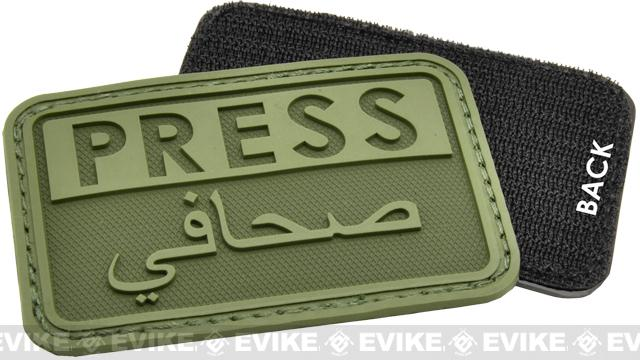 Hazard 4 PRESS Rubber Hook and Loop Patch - OD Green