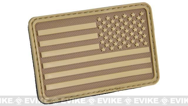 Hazard 4 US Flag Rubber Velcro Patch - Right Arm / Coyote