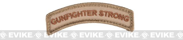 Mil-Spec Monkey Gunfighter Strong Embroidered Hook and Loop Morale Patch - Desert