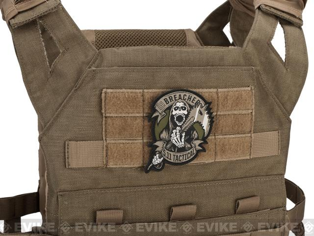 5.11 Tactical Breacher Embroidered Hook & Loop Morale Patch - Brown