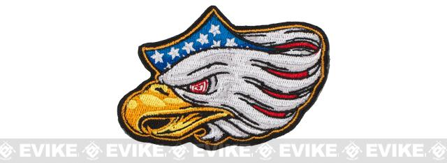 5.11 Tactical Eagle Eye Embroidered Hook and Loop Morale Patch - Red / White / Blue