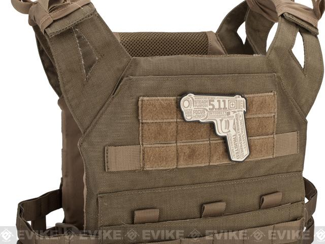 5.11 Tactical 45 Words or Less PVC Hook & Loop Morale Patch - Sand