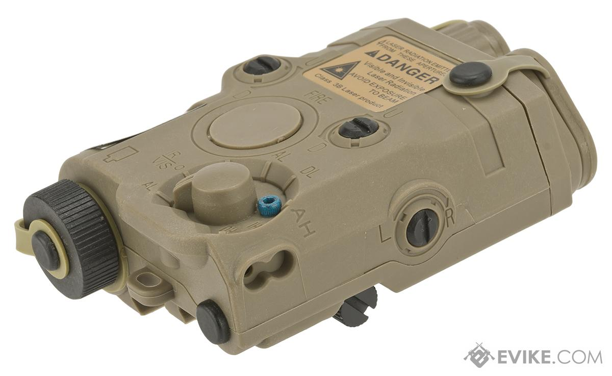 Matrix Airsoft PEQ-15 Battery Box w/ Laser System - Red Laser (Color: Dark Earth)