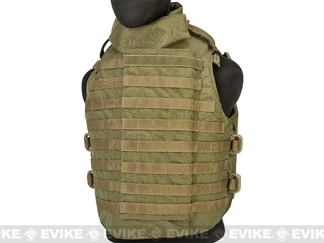 Black Owl Gear / Phantom Interceptor Replica Modular OTV Body Armor / Vest - Extra Large (Coyote)