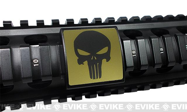 Custom Gun Rails (CGR) Small Laser Engraved Aluminum Rail Cover (Permodized) - Punisher