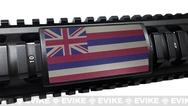 Custom Gun Rails (CGR) Large  Aluminum Rail Cover - Hawaii State Flag