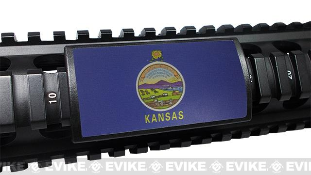 Custom Gun Rails (CGR) Large  Aluminum Rail Cover - Kansas State Flag