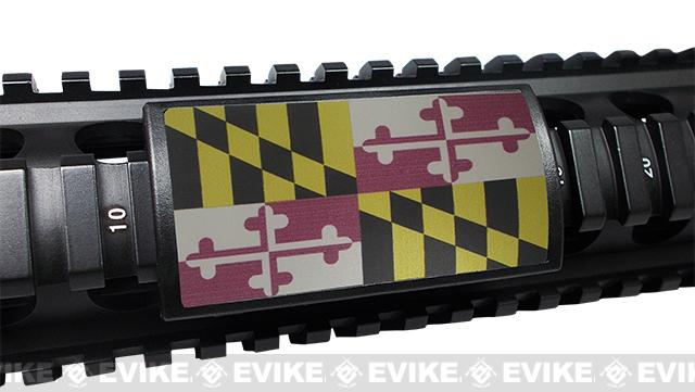 Custom Gun Rails (CGR) Large  Aluminum Rail Cover - Maryland State Flag