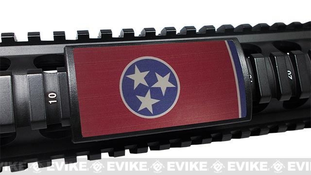 Custom Gun Rails (CGR) Large  Aluminum Rail Cover - Tennessee State Flag