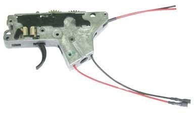 ICS M4 Complete Lower Gear Box w/ Wiring Gears and Trigger Assembly (Rear Wiring)