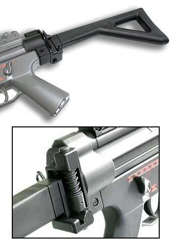ICS Side Folding Stock For MP5 A4 / A5 / SD5 / SD6 series Airsoft AEG Guns