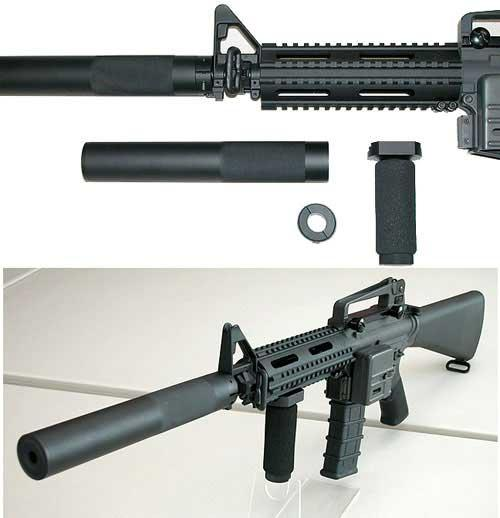 JBU Full Metal SD-Type Mock Silencer for Airsoft AEG