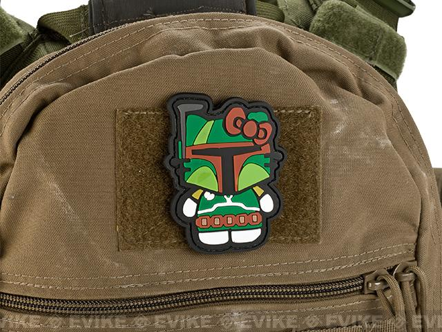 Avengers Airsoft Tactical Bounty Hunter Cat PVC IFF Velcro Patch