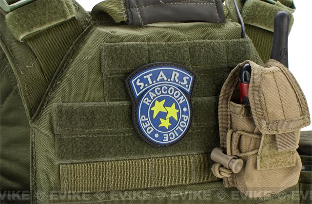 S.T.A.R.S. Glow-in-the-Dark PVC Hook and Loop Morale Patch