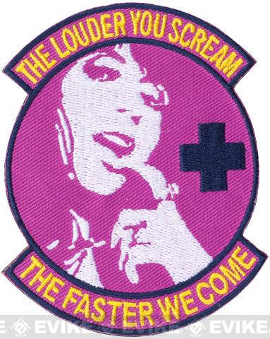 Matrix PVC Hook and Loop IFF Patch - Scream Faster Medic Morale Patch (Pink)