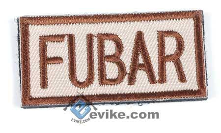Matrix FUBAR IFF Hook and Loop Patch / 50x25mm (Tan)